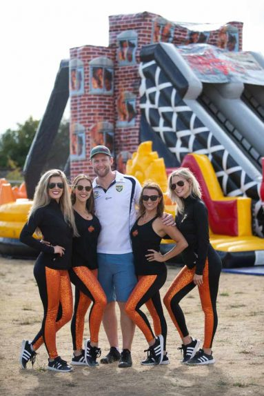 Allwest Electric Ltd. - Company Picnic - BC Lions Cheerleaders - Anita Alberto Photography